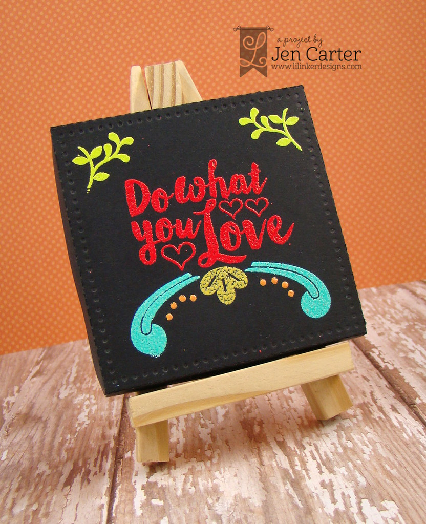 Jen Carter Black Love Canvas wm