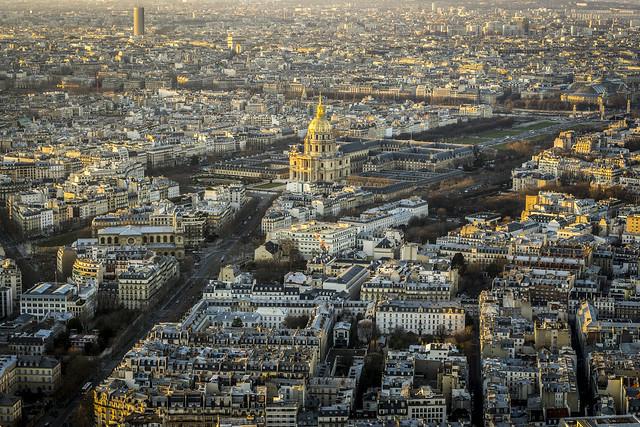 Paris, vue sur les Invalides