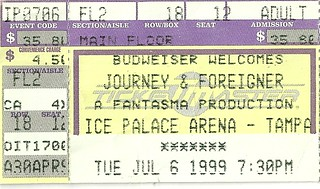 07/06/99 Journey/ Foreigner/ Foghat @ Ice Palace, Tampa, FL