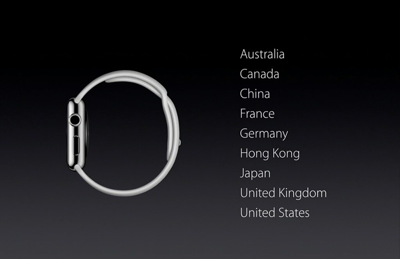Apple Watch First Tier Countries