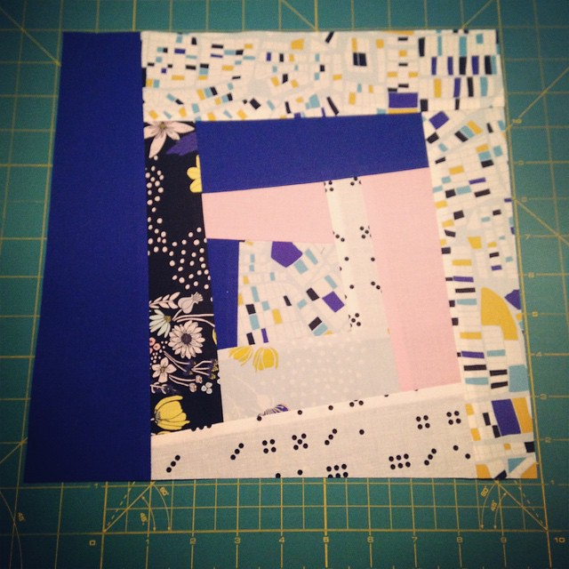 Second wonky block for @kakeym - so much fun!! I'll pop these in the post for you tomorrow, Kate! #beeeuropa