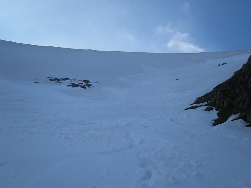 helvellyn head wall skied