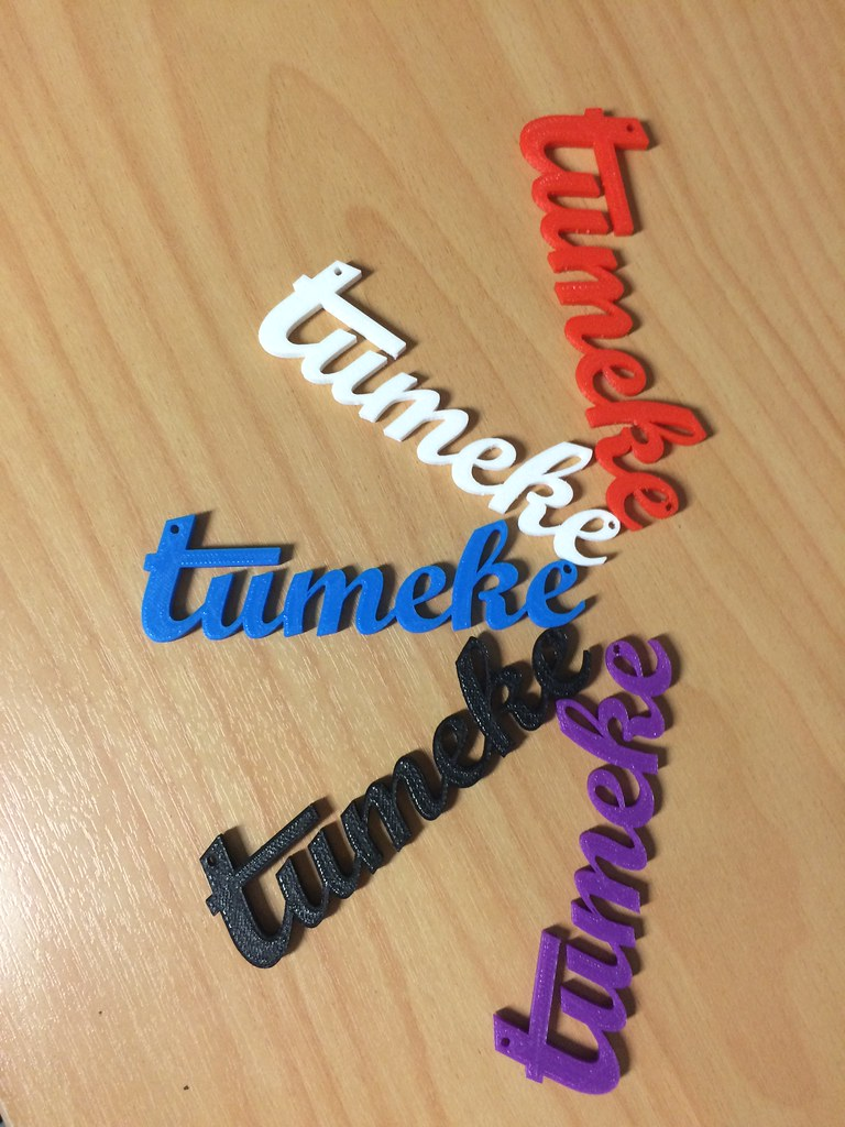 Tūmeke x4 | 3D printed words for Te wiki o te reo Māori,