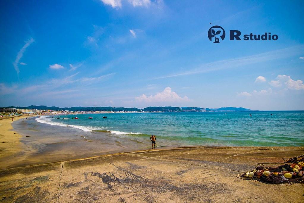 目の前の海:由比ケ浜海岸