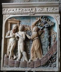 Expulsió d'Adam i Eva (relleu reinaixentista), Mont Saint-Michel