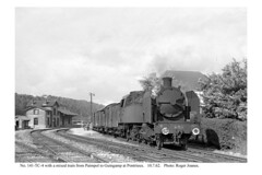 Pontrieux. 141-TC-4 & train for Guingamp. 10.7.62