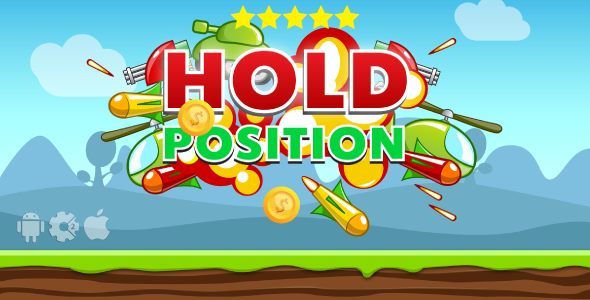 Hold Position - HTML5 Game + Mobile. Construct 2 (capx) + Cocoon ADS