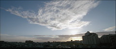 Evening Clouds:  Pentax Film Panorama