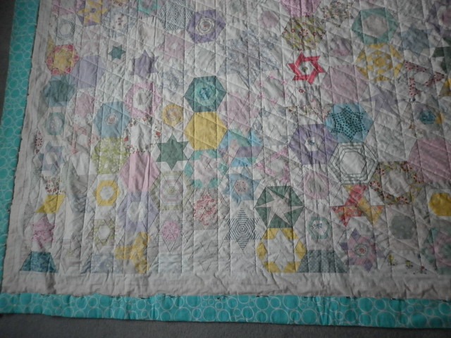 Hexy quilting progress - still to do