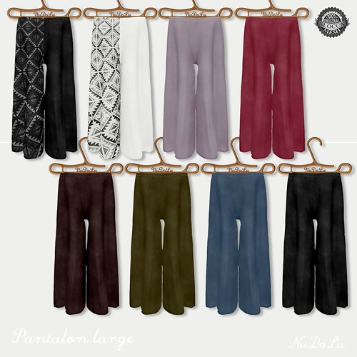 NuDoLu Pantalon large all color AD