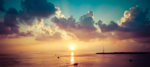 sunset sea seascape beach colors beautiful clouds landscape boats waves maldives cloudphotography