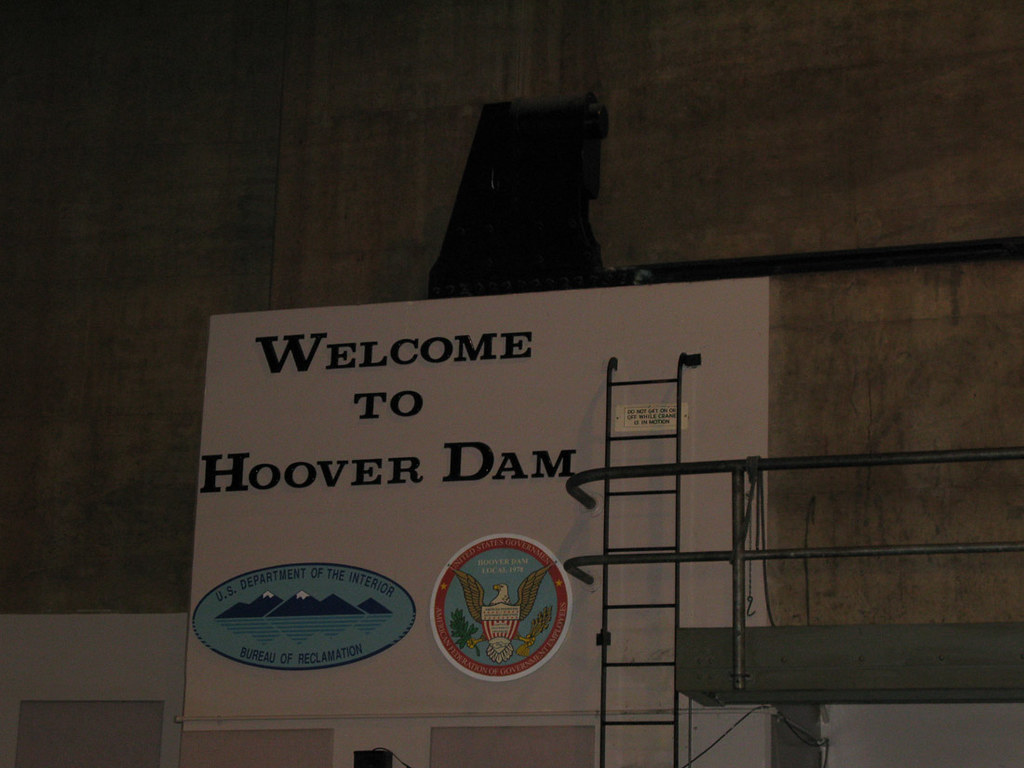Welcome to Hoover Dam Sign