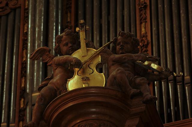 Saint Omer, Nord-Pas-de-Calais, Cathédrale Notre-Dame, organ, positif, musical angels