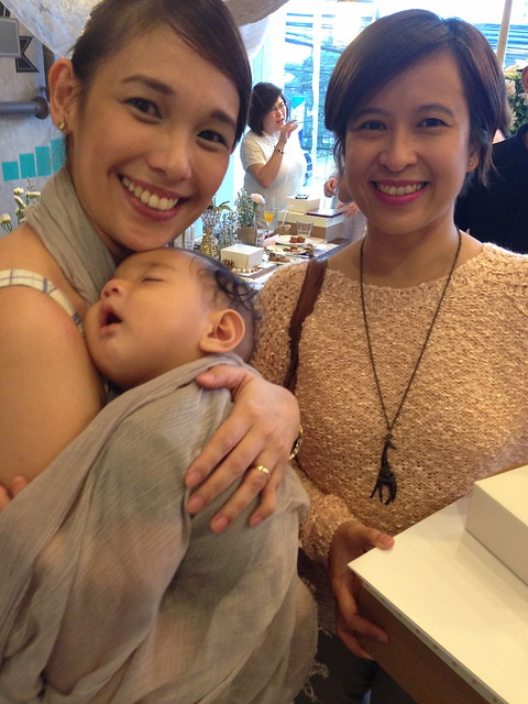 With Frances and baby of Topaz Horizon