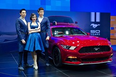 Sexy models presenting the Ford Mustang at the 31st Thailand International Motor Expo
