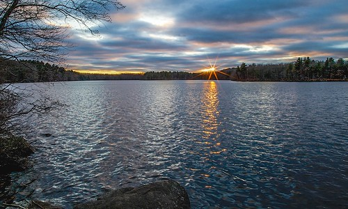 sunset sky sun lake nature clouds canon photostream
