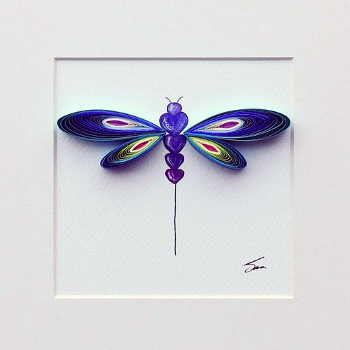 Quilled Dragonfly by Sena Runa