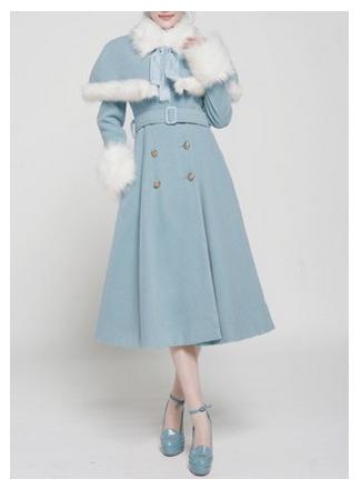 blue lolita coat