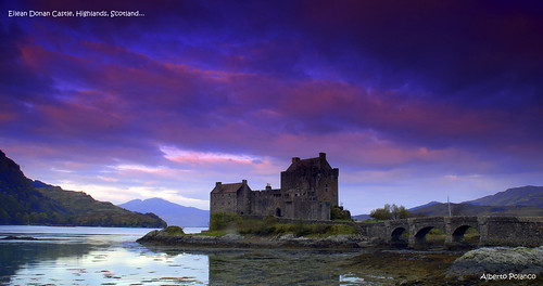 castle sunrise scotland highlands historic castillo eileandonancastle