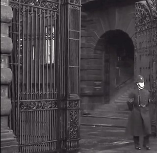 Metropolitan Police Sergeant, Attached To Cannon Row Police Station (AD) Leaves Scotland Yard On Patrol. Circa 1950's.