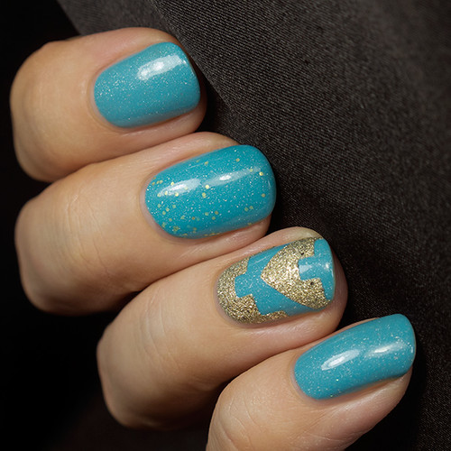 Picture Polish Cyan & Fool's Gold and Pretty Serious Dimension X