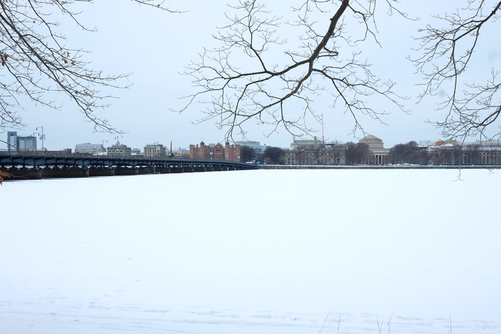 Snowy, Frozen Charles River... in March