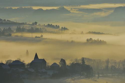 Roissard sous la brume