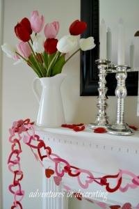 Valentine Mantel-Adventures in Decorating