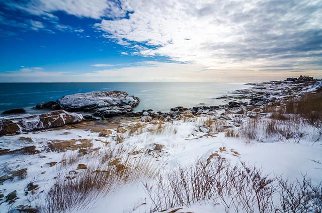 Drake Jackson - Narragansett coast under snow