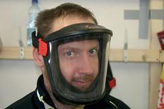 Maska pro práci sfluorovými prášky