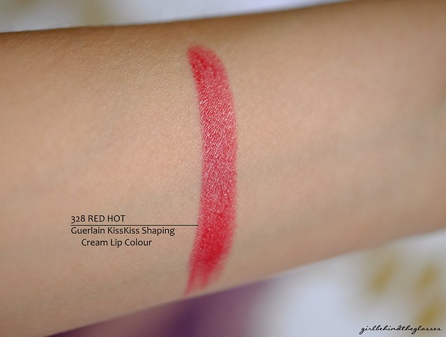 Guerlain KissKiss Shaping Cream Lip Colour 328 Red Hot swatch