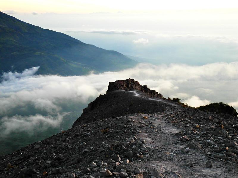 The winding path to the summit at Mount Merapi, Jogjakarta