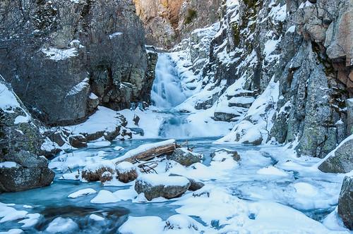 Ruta a la Cascada del Purgatorio con nieve