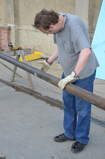 1/2 launch rod  (Stephen Williams) - V2 Build Day 20th Feb, 2015