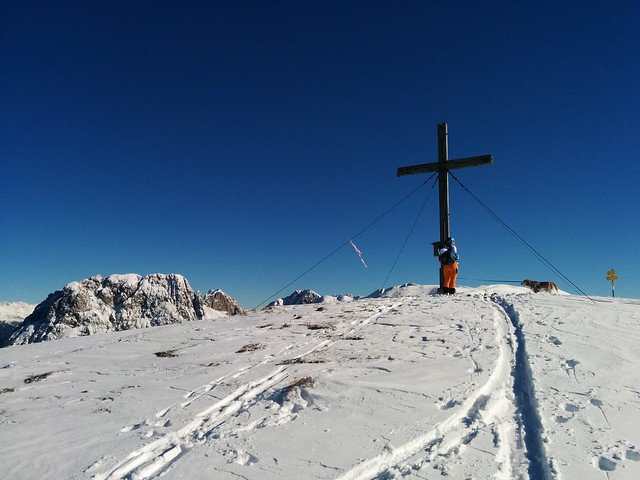 Geschafft, am Dorfberg-Gipfel angelangt