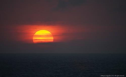 ocean sunset sea sun sol atardecer mar ocaso caribe atlantico