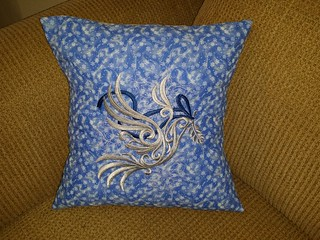 Baroque Noel - Dove Pillow