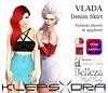 Klepsydra - Vlada High Waist Denim Skirt