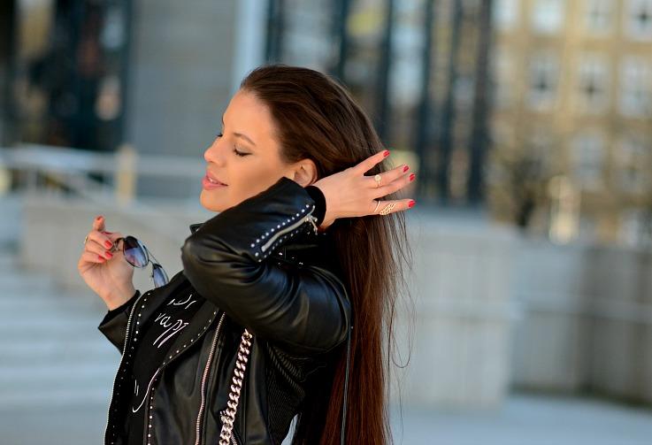 DSC_2191 Tamara Chloé, Zara Black biker jacket