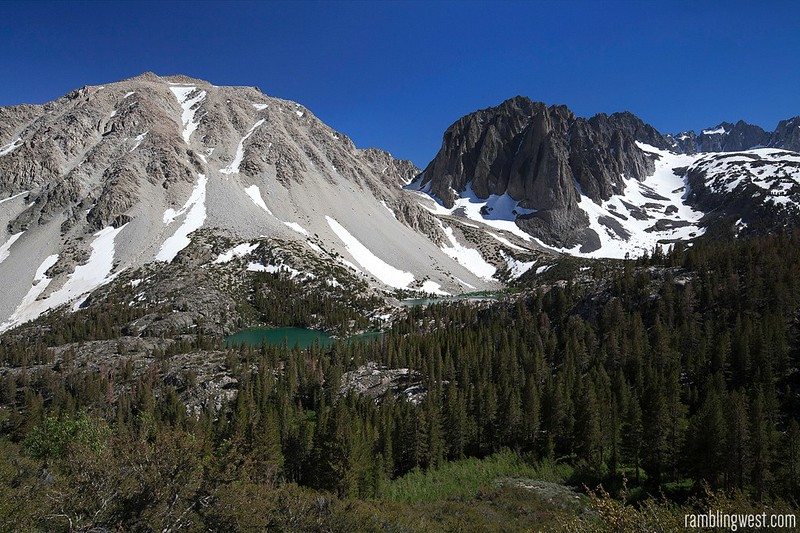 View from Black Lake, big pine lakes, ca