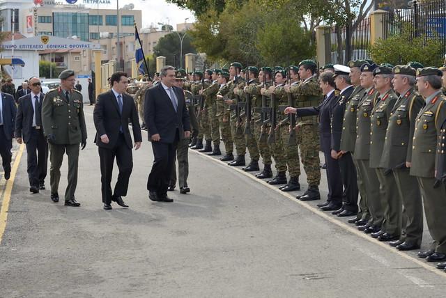 Επίσκεψη ΥΕΘΑ Πάνου Καμμένου στο Γενικό Επιτελείο Εθνικής Φρουράς