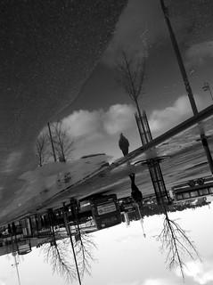 walking alone in the sky