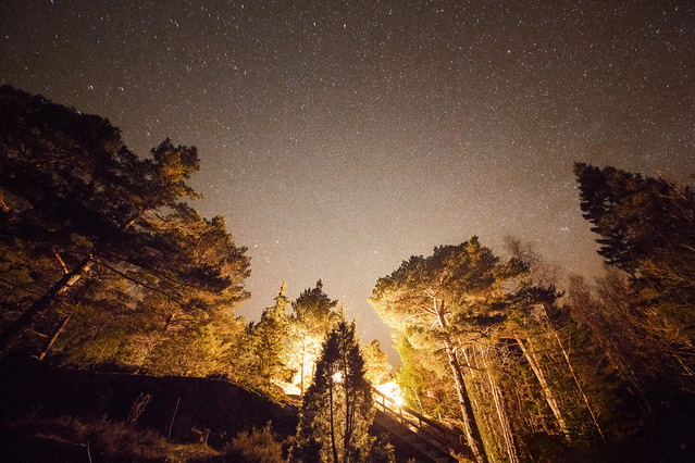 Stjernehimmel over hytta