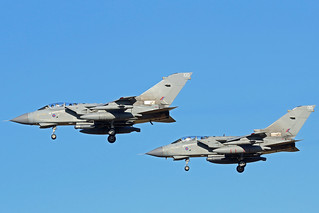 2 RAF TORNADO FLYPAST NEWCASTLE AIRPORT