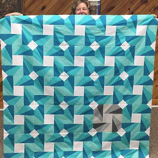 Finished piecing my Spinning Wheel quilt!  What a great pattern you write @duringquiettime !  Loved working with these solids from #artgallery, courtesy of Sew Me a Song. Now to quilt and bind it!