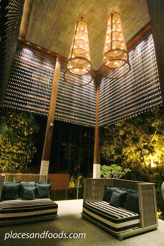 sri panwa lounge sofa night view