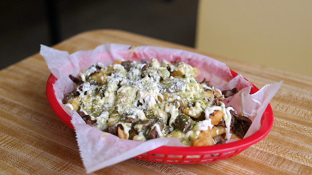 Carne Asada fries from Paleteria La Michoacana in Des Moines, Iowa