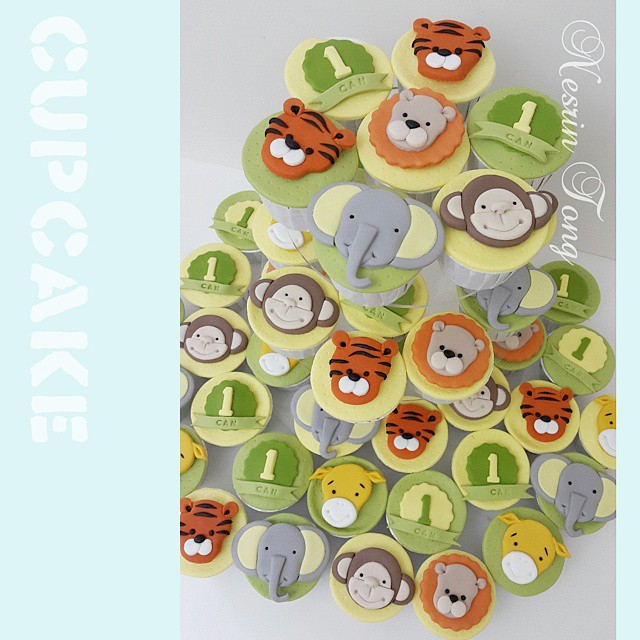 Animals cupcake.... #cupcakes  #cupcake #birthdaycupcake  #firstbirthdaycupcake #handmade  #nesrintonghandmademodelling #nesrintong