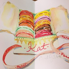 @parisbreakfast love it! merci beaucoup! #watercolors #parisbreakfast #merci #macaron