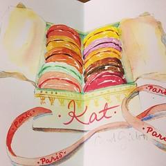 @parisbreakfast love it! merci beaucoup! #watercolors #parisbreakfast #merci #macaron